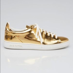 Louis Vuitton Gold Patent Leather Frontrow Sneaker